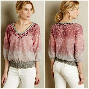 Anthropologie Womens Top Pink XS Arembepe